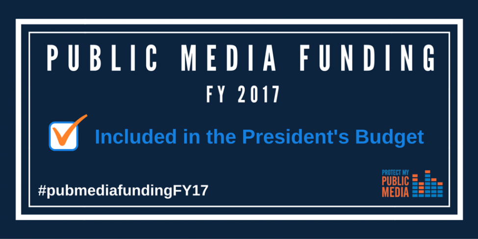 Public media funded in the President's Budget
