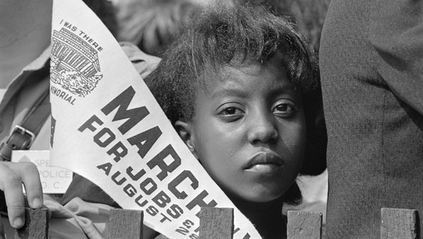 A young civil rights demonstrator at the March on Washington for Jobs and Freedom