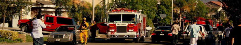 Evacuation in Santa Clarita, California due to wildfires.