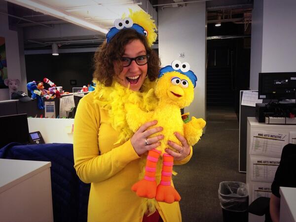 Sasha Schechter at WNET has a public media Sesame Street inspired inception! Photo credit: Sasha Schechter
