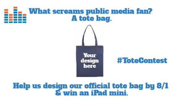 Protect My Public Media Tote Bag Contest Image