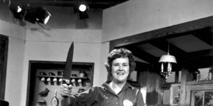 """Julia Child on the set of """"The French Chef"""" in 1970 (Tribune File photo, Alone, Chef 90th Birthday Anniversary, Television, Show, Cooking Program)"""
