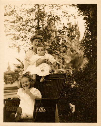 A young Julia Child pictured with her brother John and Grandmother McWilliams.