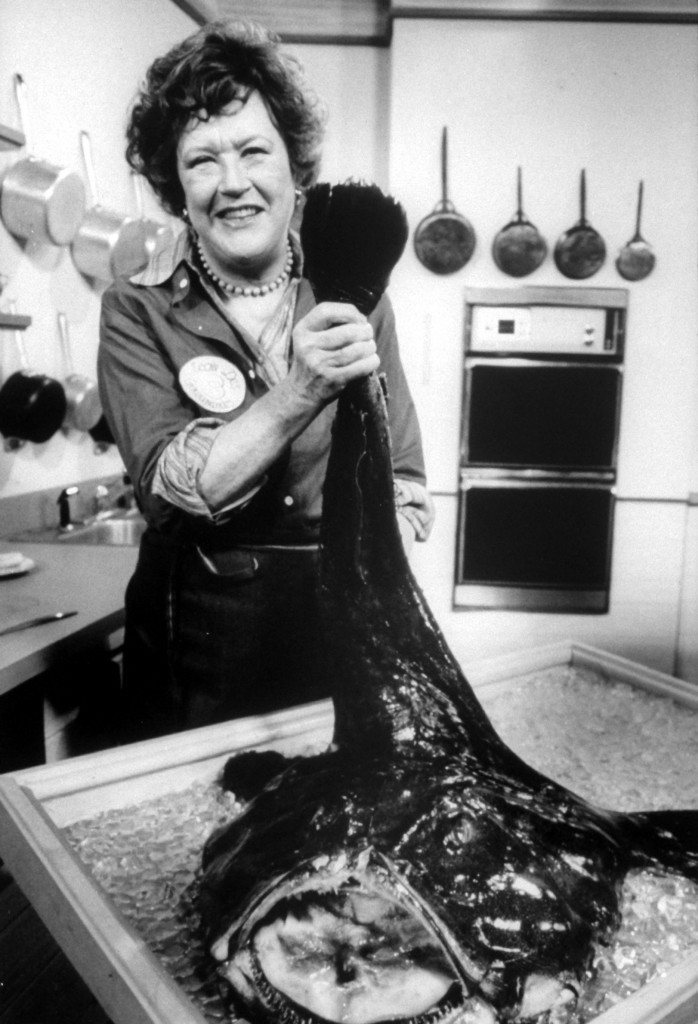 Julia Child with Fish