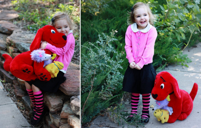 emily elizabeth and clifford the big red dog emily elizabeth halloween costume - Clifford The Big Red Dog Halloween Costume