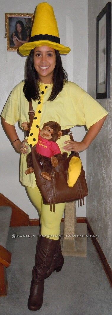 The Man in the Yellow Hat from Curious George via Coolest Homemade Costumes  sc 1 st  Protect My Public Media : hip halloween costume ideas  - Germanpascual.Com
