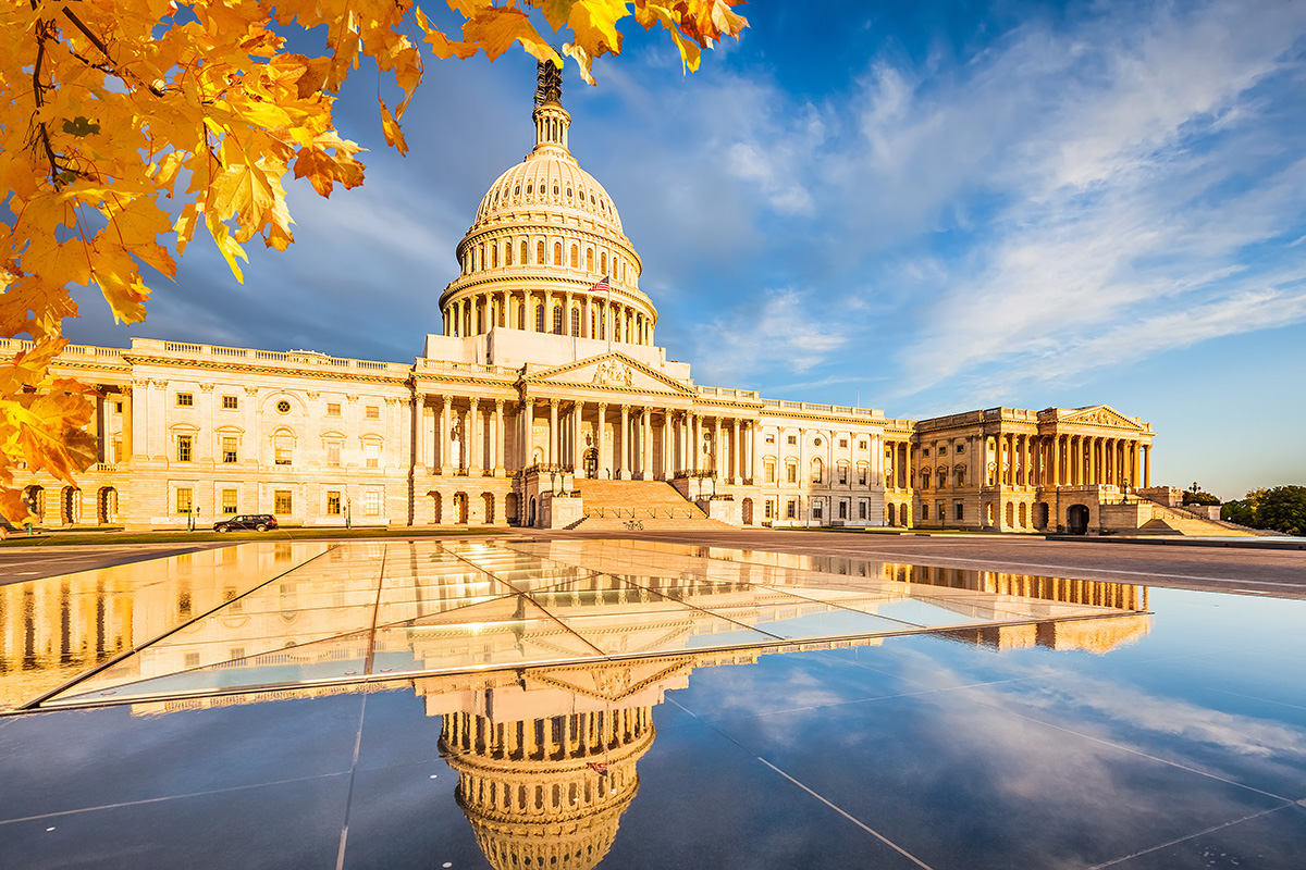 US Capitol in the fall
